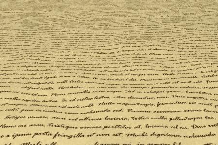incomprehensible: Manuscript - Lorem Ipsum Stock Photo