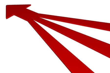 3 D 矢印 - 1 で 3 - 赤 写真素材