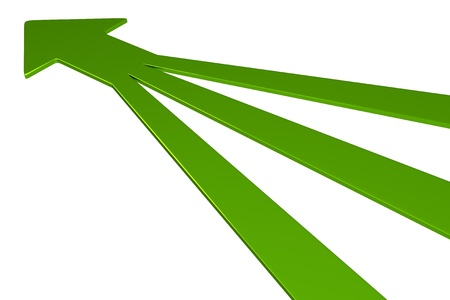 consolidate: 3D Arrows - 3 in 1 - Green Stock Photo
