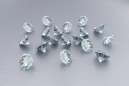 alu: 3D Diamonds - 18 Gems Stock Photo