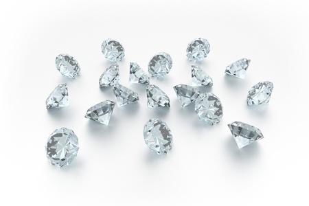unbreakable: 3D Diamonds - 18 Gems - White Background
