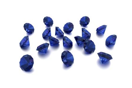 zafiro: 3D Sapphire - 18 gemas azules