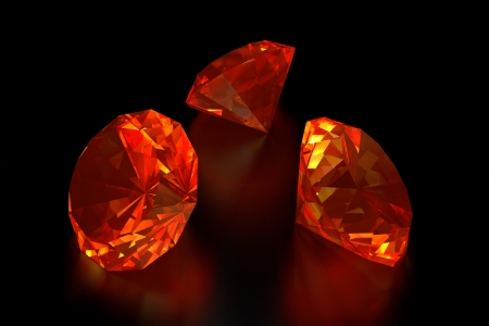 amber light: 3D Fire Diamonds