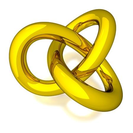 3D Gold Knot Archivio Fotografico