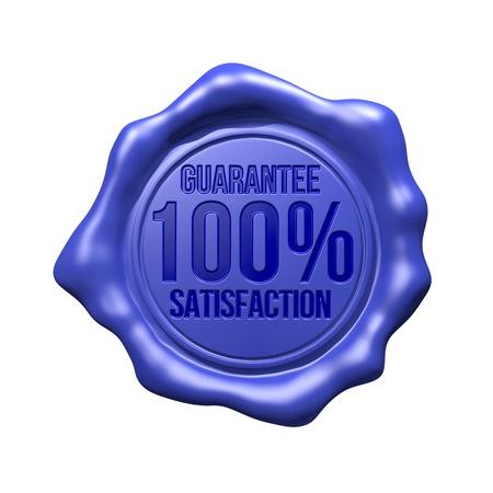 signet: Blue Wax Seal - 100  Guarantee Satisfaction