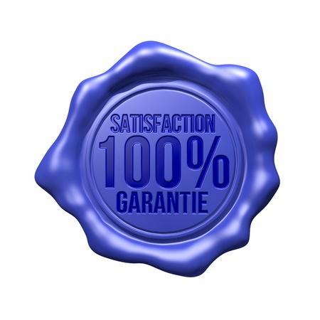 블루 왁스 물개 - 만족도 100 Garantie의 스톡 콘텐츠
