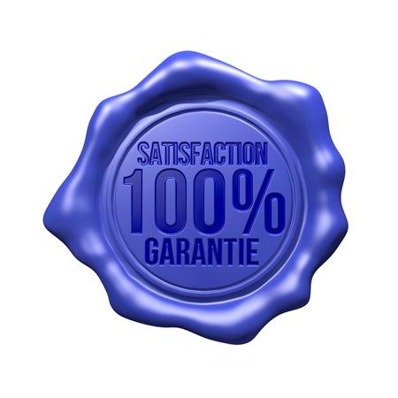 Blue Wax Seal - Satisfaction 100  Garantie