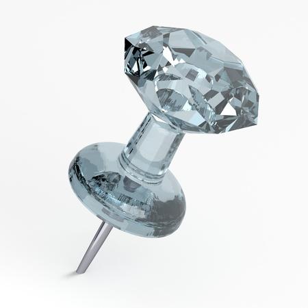 push pins: 3D Thumbtack - Diamond Stock Photo