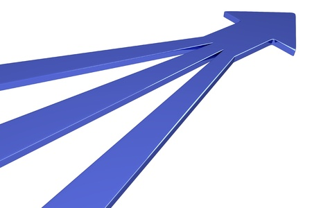 blue arrow: 3D Arrows - 3 in 1 - Blue Stock Photo