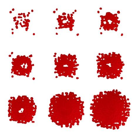 bloodstains: 3D Paint Drops - Set
