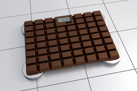 bathroom scale: 3D Bathroom Scale - Chocolate Design