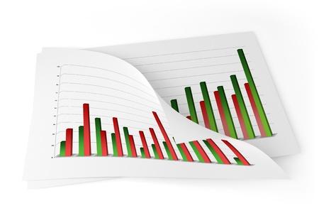 data sheet: 3D Charts - Improvement  Stock Photo