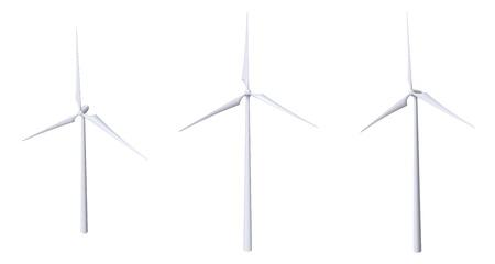 eolian:  Wind Turbine Isolated Stock Photo