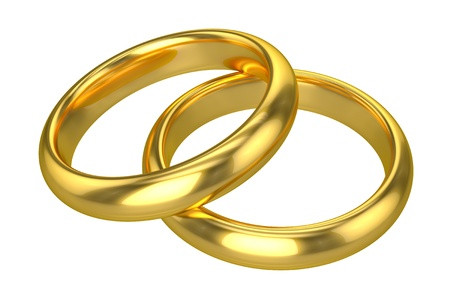 marriage ceremony: Realistic Wedding Rings - Gold