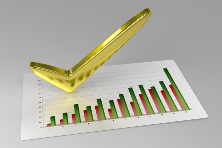 good investment: 3D Chart - Profit  Stock Photo