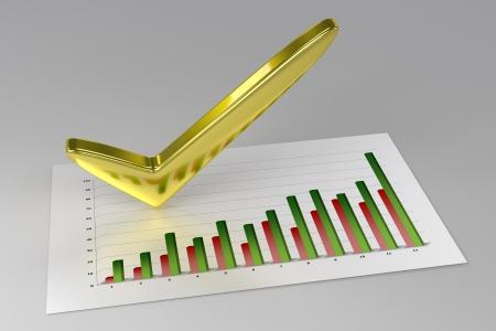 3D Chart - Profit  Standard-Bild