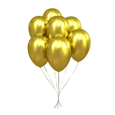 7 Golden Balloons