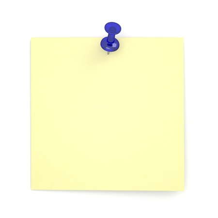 pushpins: Realistic Sticky Note Stock Photo