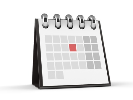 annual events: 3D Calendar  Red Event