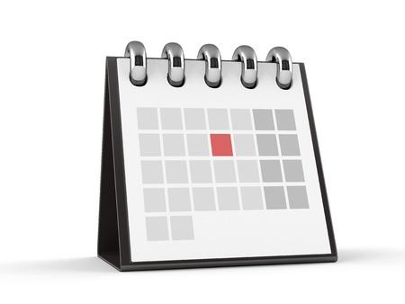 3D Calendar  Red Event