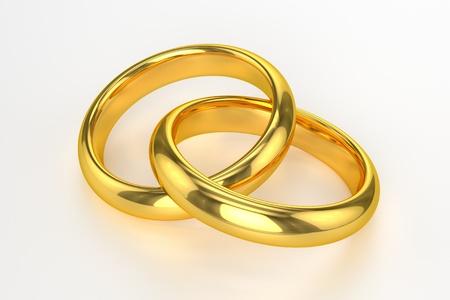 黄金の結婚指輪 写真素材
