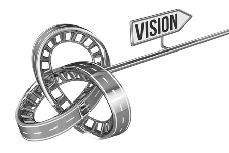 different way: Different Way With VISION Sign