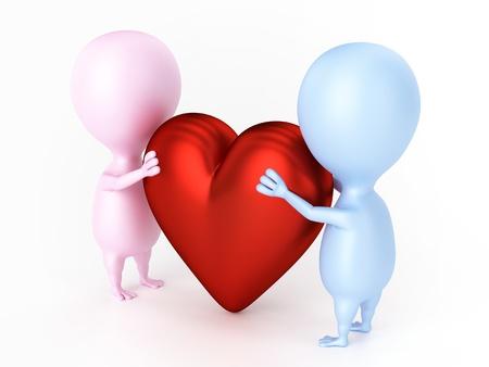 Couple And Big Heart photo