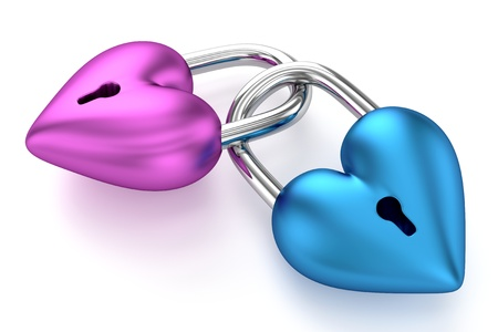 3D Heart Padlocks photo