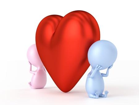dispute: Couple Dispute  With Big Heart