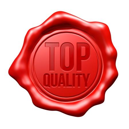 Red Wax Seal   Top Quality Standard-Bild