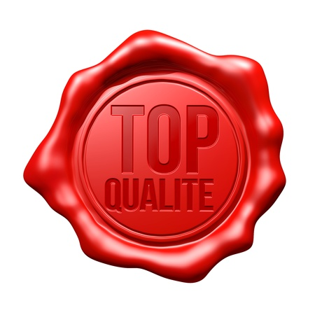 french text: Red Wax Seal   Top Qualit�