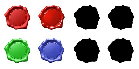 Wax Seal Set - ISOLATED 스톡 콘텐츠