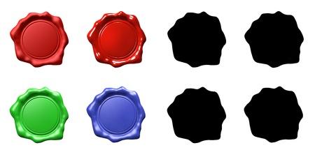 Wax Seal Set - ISOLATED Standard-Bild