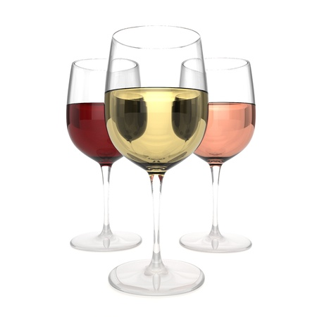 glass with red wine: 3 Wines