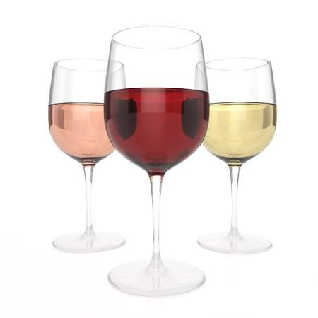 3 Glasses Of Wine Stock Photo - 21982010