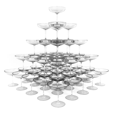 stacking: Glass Pyramid Stock Photo