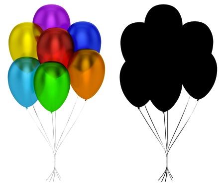 Translucent Balloons Isolated 스톡 콘텐츠