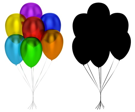air baloon: Translucent Balloons Isolated Stock Photo