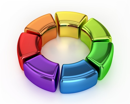 Colored Ring Chart photo