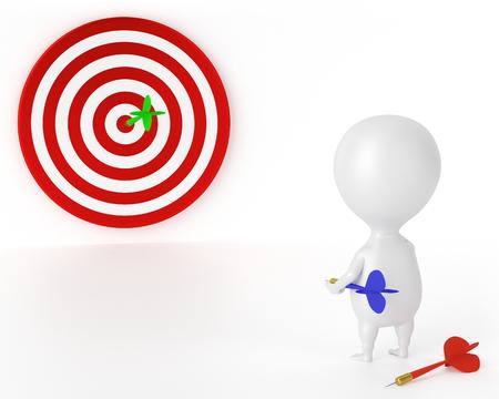 Target, Darts and Character - Good Stok Fotoğraf