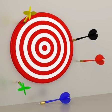 unsuccessful: Target and Darts Stock Photo