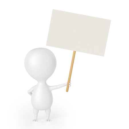 Character With Blank Placard photo