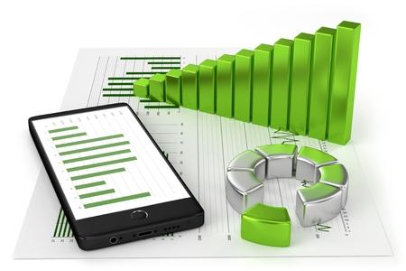 Charts and Smartphone photo