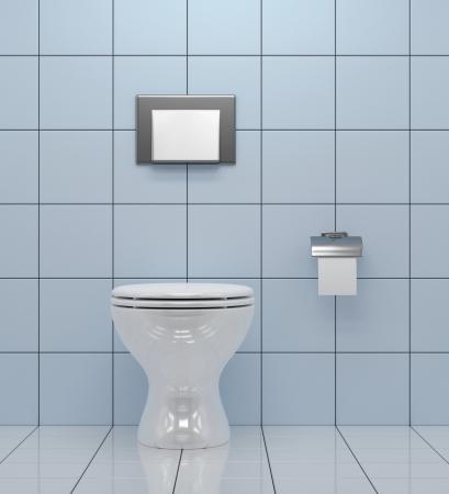 トイレ - 浴室の白い便器 写真素材