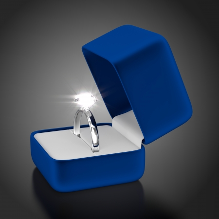 Platinum Ring with Blue Box photo