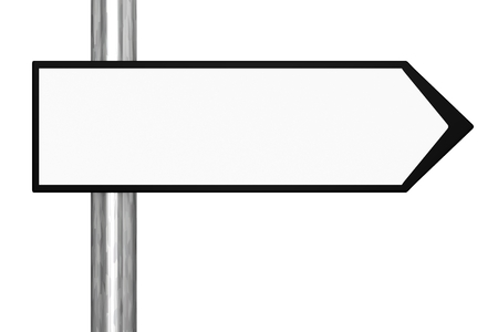 directional arrow: Blank Black and White Road Sign Stock Photo