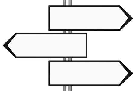 Blank Black and White Road Signs