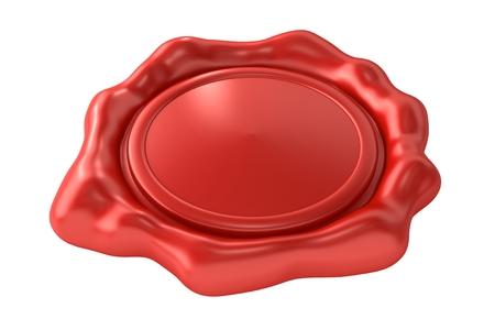 sceau cire rouge: Sceau de cire rouge blanc
