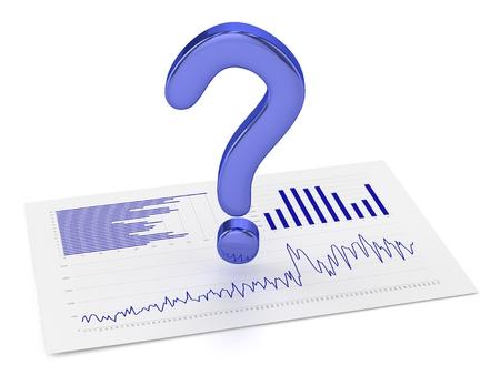 블루 질문 포인트 및 차트 스톡 콘텐츠