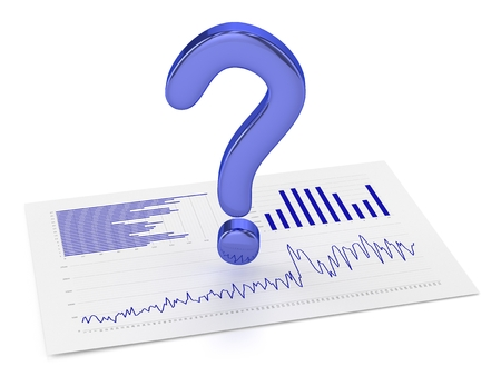 Blue Question Point and Charts